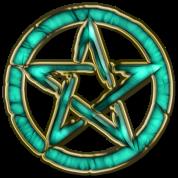 pentagram - ocean green