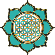 flower of life | ocean green
