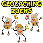 Three Geocaching Rocks