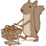 Squirrel Grocery Shopping