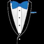 Fake Tuxedo Blue Tie
