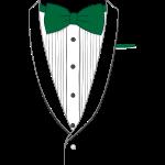 Fake Tuxedo Green Tie