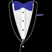 Fake Tuxedo Navy Tie