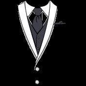 Fake White Tuxedo