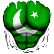 Pakistan Flag Ripped Muscles, six pack, chest t-sh