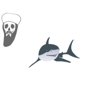 Osama Bin Laden swimming with sharks
