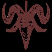Satanic Goat Head with Cross