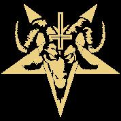 Satanic Goat Head with Pentagram (inverted)