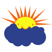 sun peeking out from behind a cloud