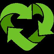 Recycling Heart (dd print)