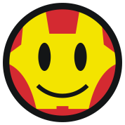 Iron Smiley Man / Icon 3c