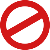 prohibition sign