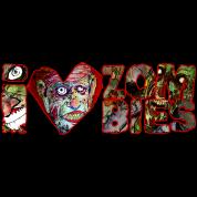 i love zombies - white