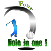 Four Hole in one ! Golf