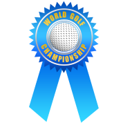 world golf championship ribbon long gold