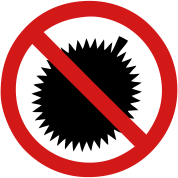 No Durian Fruit Sign