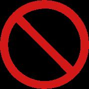 No Durian Fruit Sign