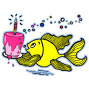 Birthday fish, Fish With Cake and Candle, By FabSpark