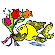 With Love, Fish with Flowers, Sparky the fish , By FabSpark