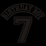 Birthday boy 7 years