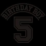 Birthday boy 5 years