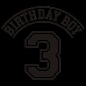 Birthday boy 3 years