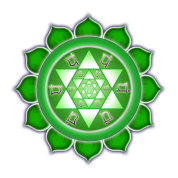 Heart Chakra Fractal Bloom w/Sacred Geometry