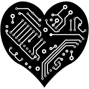 Technology Heart (1 color)