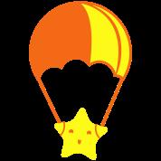 star on a parachute