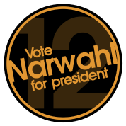 Vote Narwhal Round Orange