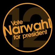 Vote Narwhal Round Orange