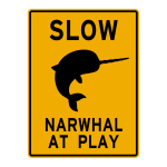 Narwhal at play