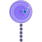 purple lollipop candy