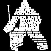 Language of Hockey (Goalie, white print)