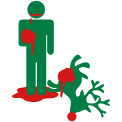 zombie man eating rudolph Christmas humour
