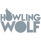 HOWLING WOLF wolves howling at the moon silver