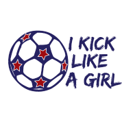 I Kick Like A Girl Soccer