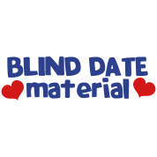 blind date material with hearts