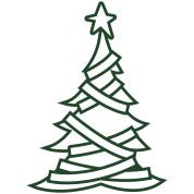 SIMPLE adorned CHRISTMAS tree with a north star