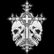 Gothic Cross with Skulls