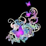Bright Purple Butterflies