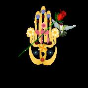 Hamsa and Flowers