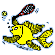 Tennis Fish, Fish Playing Tennis , By FabSpark