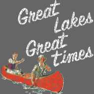 Design ~ Vintage Great Lakes Great Times Canoe