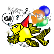 Party Animal Fish Sparky, By FabSpark