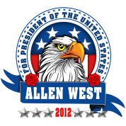 Allen West for president Eagle Head