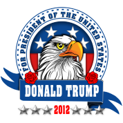 Donald Trump for president 2012 Eagle Head