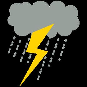 raincloud lightning strike rain storm
