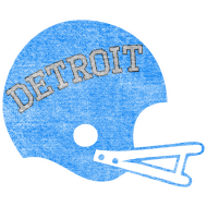 Design ~ Vintage Detroit Football Helmet
