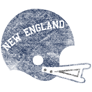 Design ~ Vintage New England Football Helmet